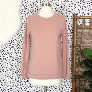 Boden | Cashmere Dusty Blush Pink Knit Sweater M